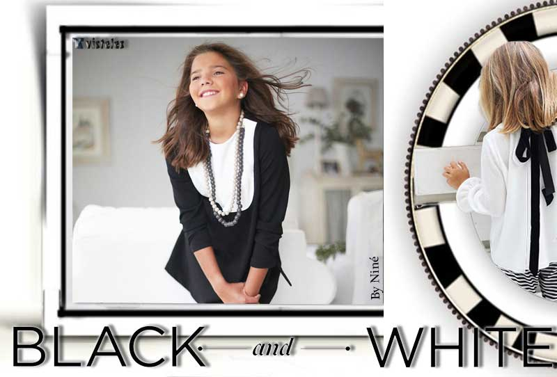 Tendencias black & white en moda infantil fw16