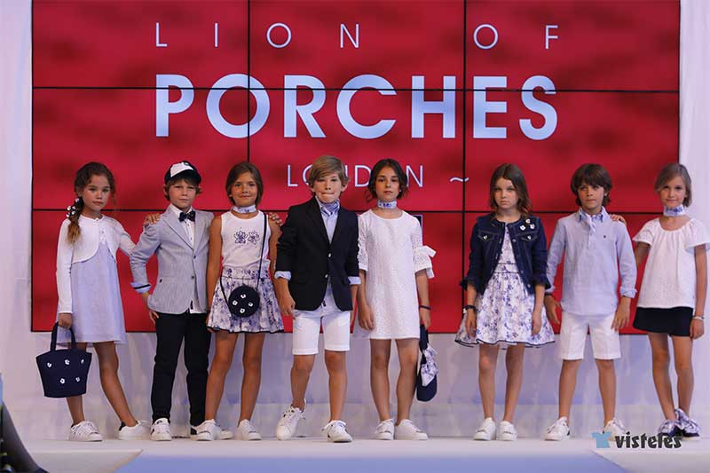 Lion of Porches moda infantil ss19